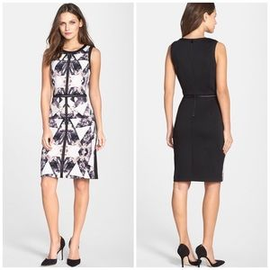 Vince Camuto Graphic Print Sheath Dress